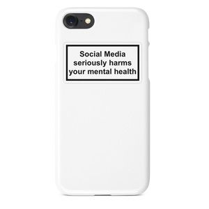 Popular Social Media Mental Health iPhone Case